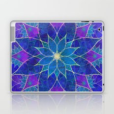 Lotus 2 - blue and purple Laptop & iPad Skin