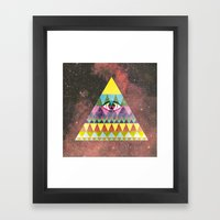 Pyramid In Space. Framed Art Print