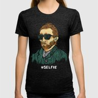 Van Gogh: Master Of The … Womens Fitted Tee Tri-Black SMALL