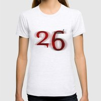 26 Womens Fitted Tee Ash Grey SMALL