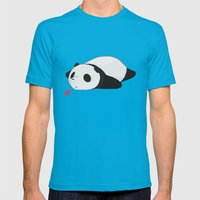 Panda 2 Mens Fitted Tee Teal SMALL