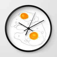 Eggs for breakfast Wall Clock