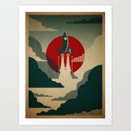 Art Print featuring The Voyage by The Art Of Danny Haa…