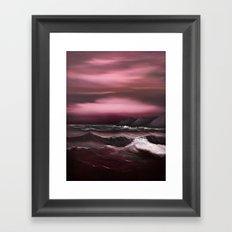 Sea of Crimson Framed Art Print