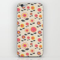 Floral Flight Pink iPhone & iPod Skin