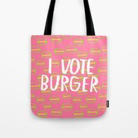 I Vote Burger Tote Bag