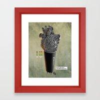 CRZN Dynamic Microphone … Framed Art Print