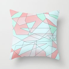Mint & Coral Geometric Throw Pillow