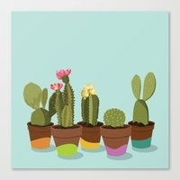 Cacti Gang Canvas Print