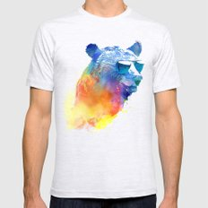 Sunny Bear Mens Fitted Tee Ash Grey SMALL
