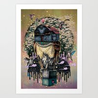 The Barn Owl Fortune Tel… Art Print
