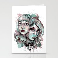 Faces and Color Stationery Cards