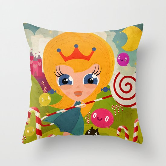 Caramel Princess Throw Pillow