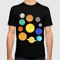 The Solar System Mens Fitted Tee Black SMALL
