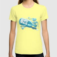 The Late Party Bird Gets… Womens Fitted Tee Lemon SMALL