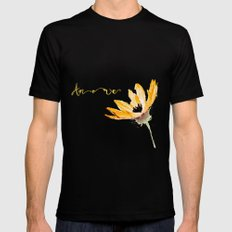 Flower Amore Mens Fitted Tee SMALL Black