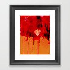 Blood Mania Framed Art Print