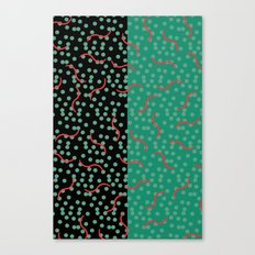 squiggles and dots Canvas Print