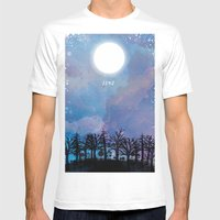 Luna Mens Fitted Tee White SMALL