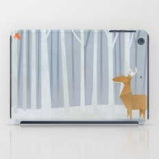 Origami deer in the Woods iPad Case