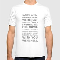 Wish you were here Mens Fitted Tee White SMALL