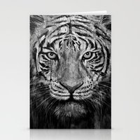 Tiger Black & White Stationery Cards