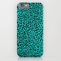 Neon Turquoise Leopard iPhone & iPod Case