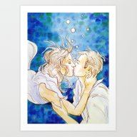 Underwater Kiss Art Print