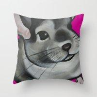 Bella the Chinchilla Throw Pillow