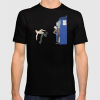 tardis-sick Mens Fitted Tee Black SMALL