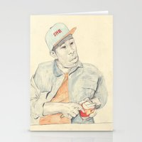Tyler With An Apple Stationery Cards