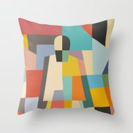 Throw Pillow featuring MISTERY WOMAN by THE USUAL DESIGNERS