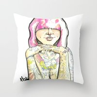 sweet heart Throw Pillow