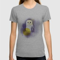 The Calm Owl Womens Fitted Tee Athletic Grey SMALL