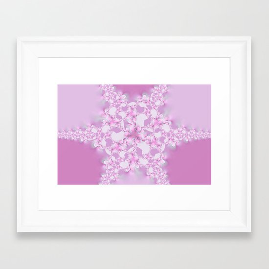 Floral Star  Framed Art Print