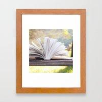 An Open Book Framed Art Print