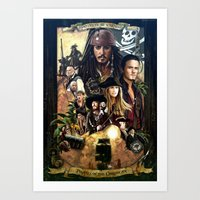 Pirates Of The Carobbean… Art Print