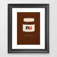 Happiness In A Jar Framed Art Print