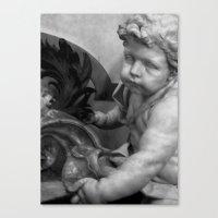 The Haunted Cherub. Canvas Print