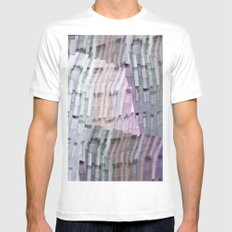 Abstract Windows Mens Fitted Tee White SMALL
