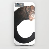 iPhone & iPod Case featuring C-Chimpanzee by Alan Wells