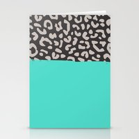 Colorblock Leopard Stationery Cards