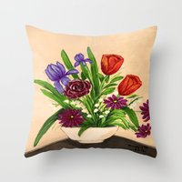 Flowers/still life  Throw Pillow
