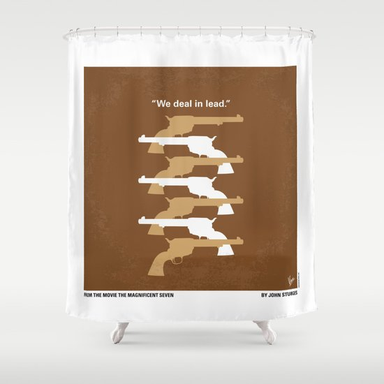 No197 My The Magnificent Seven minimal movie poster  Shower Curtain