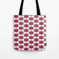 Flowery Red Tote Bag