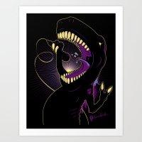 Tyrannosaurus Rockstar Art Print