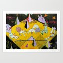 space plain Art Print