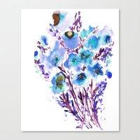 Bouquet Blue Canvas Print