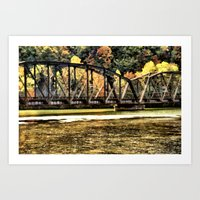 West VA Train Bridge Art Print