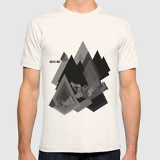 Mountains Inside Mens Fitted Tee Natural SMALL